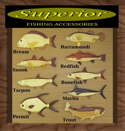 quality handcrafted wooden fishing accessories including Rods Racks,